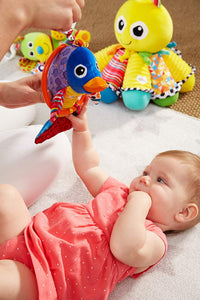 Lamaze Flipping Felipe - Clip On Pram and Pushchair Newborn Baby Toy Dolphin - Suitable from Birth