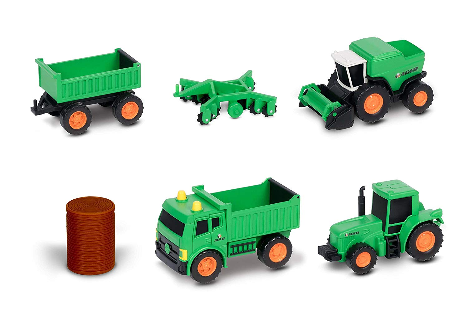 Nikko 9907 Mini Farming Vehicles - Dumper Tractor Trailer Combine set