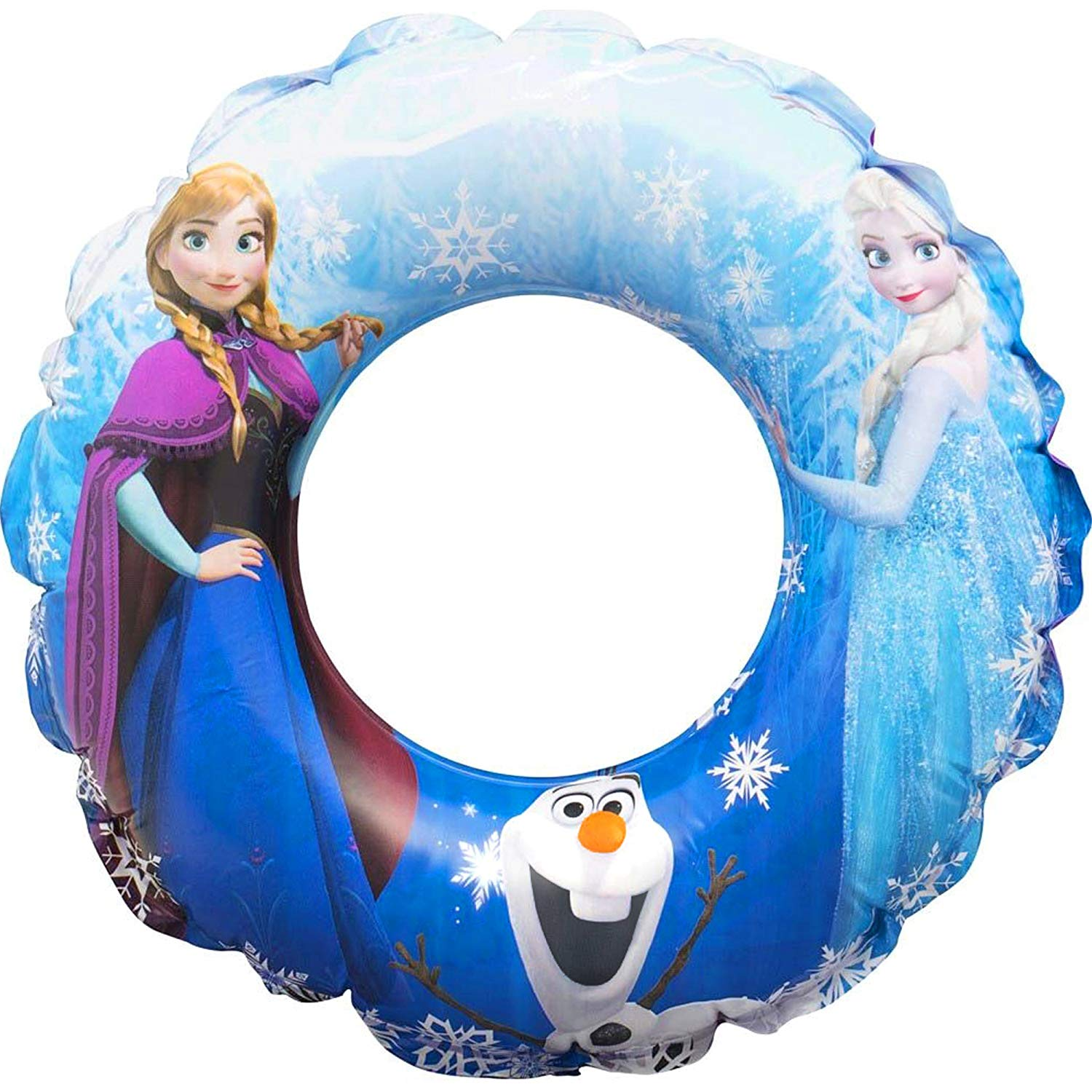 SAMBRO Disney Frozen Rubber Swim Ring Kids Swimming Beach Toy Inflatable