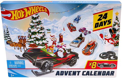 box Damaged - Hot Wheels FYN46 Christmas Advent Calendar, Cars and Accessories