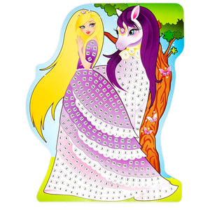 Sticky Mosaics Princesses Craft Kit 1000+ Pieces