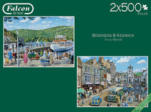 Jumbo 11238 Falcon de Luxe-Bowness and Keswick 2 x 500 Piece Jigsaw Puzzle, M...