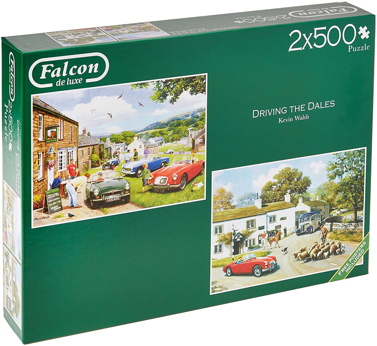 Jumbo 11215 Falcon de Luxe-Driving in The Dales, 2 x 500 Piece Jigsaw Puzzle