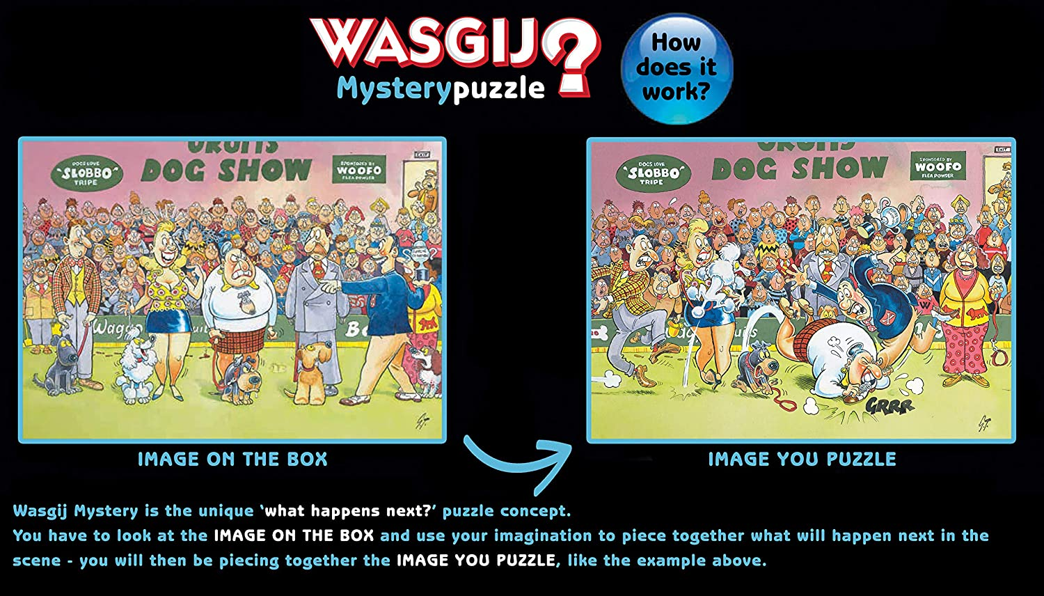 Wasgij 19175 Mystery 17-Catching a Break. 1000 Piece Jigsaw Puzzle