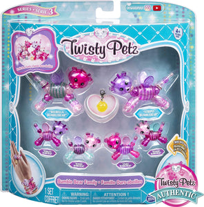 Twisty Petz, Series 3, Family Pack Collectible Bracelet Set for Kids Aged 4 and Up