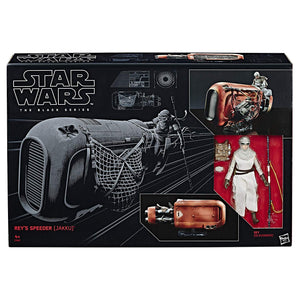 Star Wars The Black Series Rey's Speeder (Jakku) and Figure