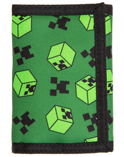 JINX Minecraft Creeper Sweeper Nylon Tri-Fold Wallet, Multi-Colored, One Size, with Coin Pocket