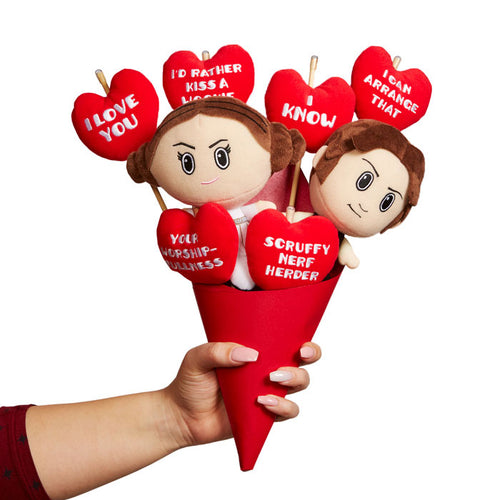 Star Wars Plush Bouquet - Princess Leia and Han - I love You - I know