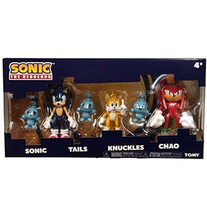 "Sonic Tomy the Hedgehog Tails Knuckles 3"" Collector 3 Figure Pack with 3 Chao NE"