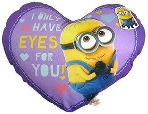 42cm Purple Despicable Me Cushion - Only Have Eyes For You Design - Dave The Minion
