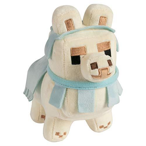 Minecraft 8732 Happy Explorer Llama Plush-White/Baby Blue, Various