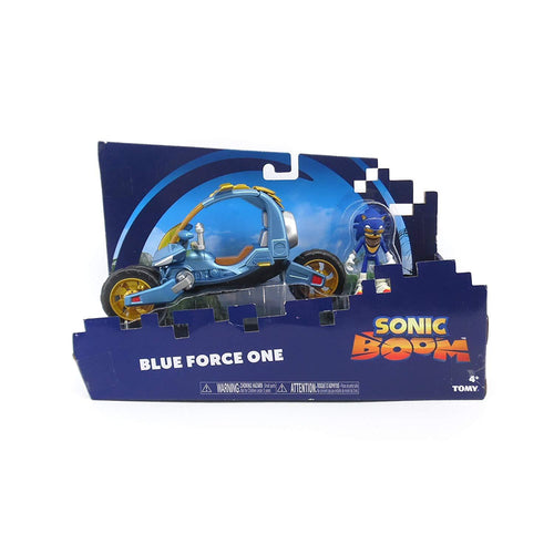 Sonic The Hedgehog - Blue Force One Sonic Boom Action Figure and Vehicle Play Set - Suitable From 4 Years