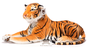Deluxe Paws Medium Brown Tiger Stuffed Soft Plush 140cm