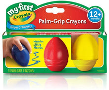 CRAYOLA My First Palm-Grip Egg Shaped Crayons - Blue, Red & Yellow - 3 Pack