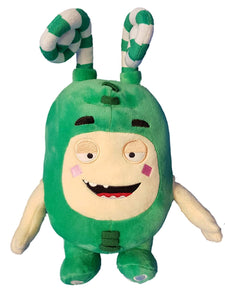 Oddbods Large 30cm Plush Soft Cuddly Toy Newt Bubbles Pogo Zee Jeff Fuse Slick (green)