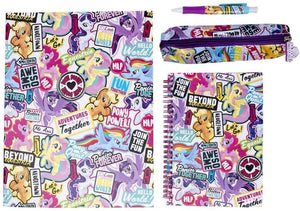 My Little Pony Backpack Stationery Set, Stationery Filled Backpack, (L) 30cm x (W) 10.5cm (H) 38cm