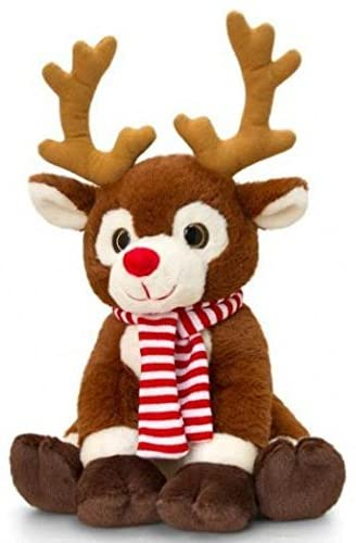 Keel Toys Deluxe 35cm Reindeer with Scarf