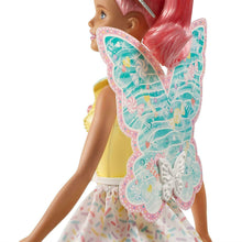 Box Damaged - Barbie FXT03 Dreamtopia Fairy Doll - Pink Haired Doll with Yellow Dress