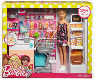 Barbie FRP01 Supermarket 25 Piece Set