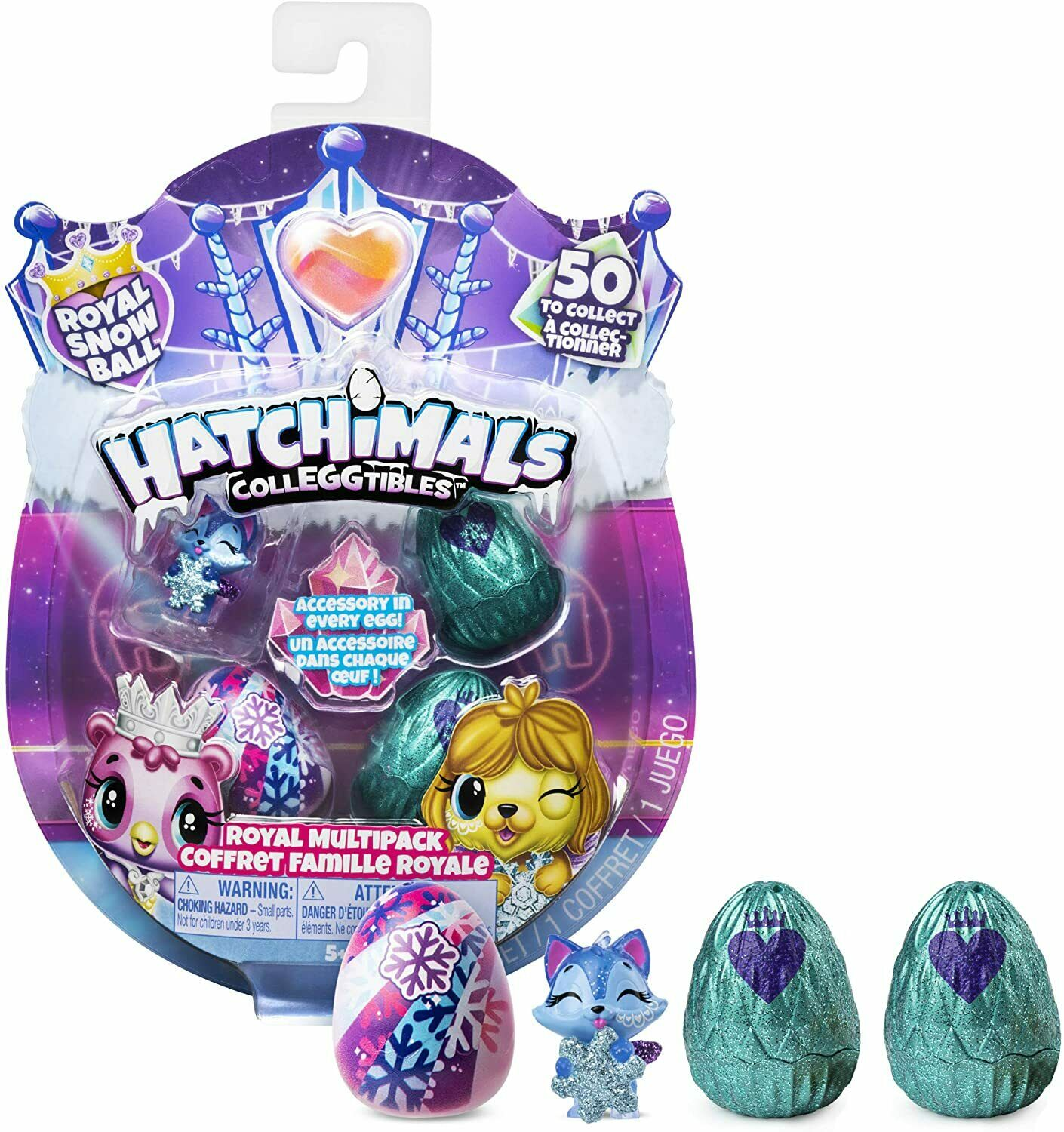 Hatchimals CollEGGtibles Royal Multipack Snow Ball Egg Pack Set