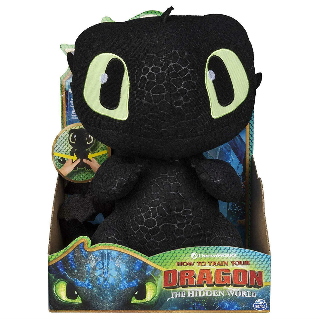 Box damaged - Dragons 6046841 DreamWorks Squeeze and Growl Toothless Plush with Sounds
