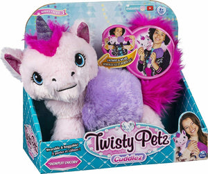 Twisty Petz™ Cuddlez - Snowpuff Unicorn - Transforming Plush (Untwist & Wear!!!)