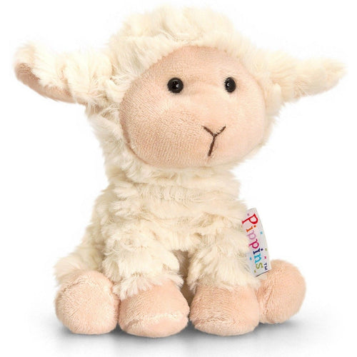 Keel Toys Pippins 14cm  Lamb Beanie Cuddly Soft Toy Plush Teddy SF4879