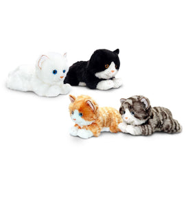 Keel Toys Laying Cats Soft Toy 25cm Plush - Choice of 4 colours