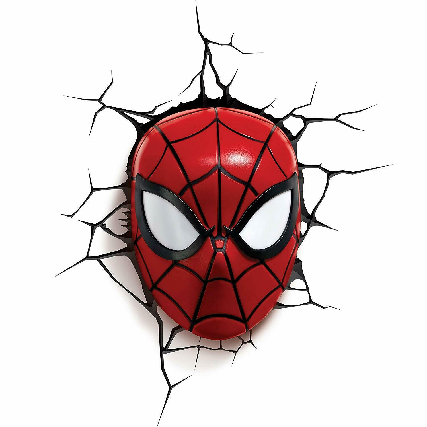 Box Damaged - Kids Cordless 3D Led Night Light FX Spiderman Marvel Lamp Wall Xmas Gift