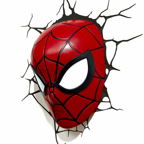 Kids Cordless 3D Led Night Light FX Spiderman Marvel Lamp Wall Xmas Gift
