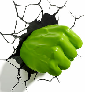 MISSING ORIGINAL BOX - Marvel Hulk Fist 3D Wall Light