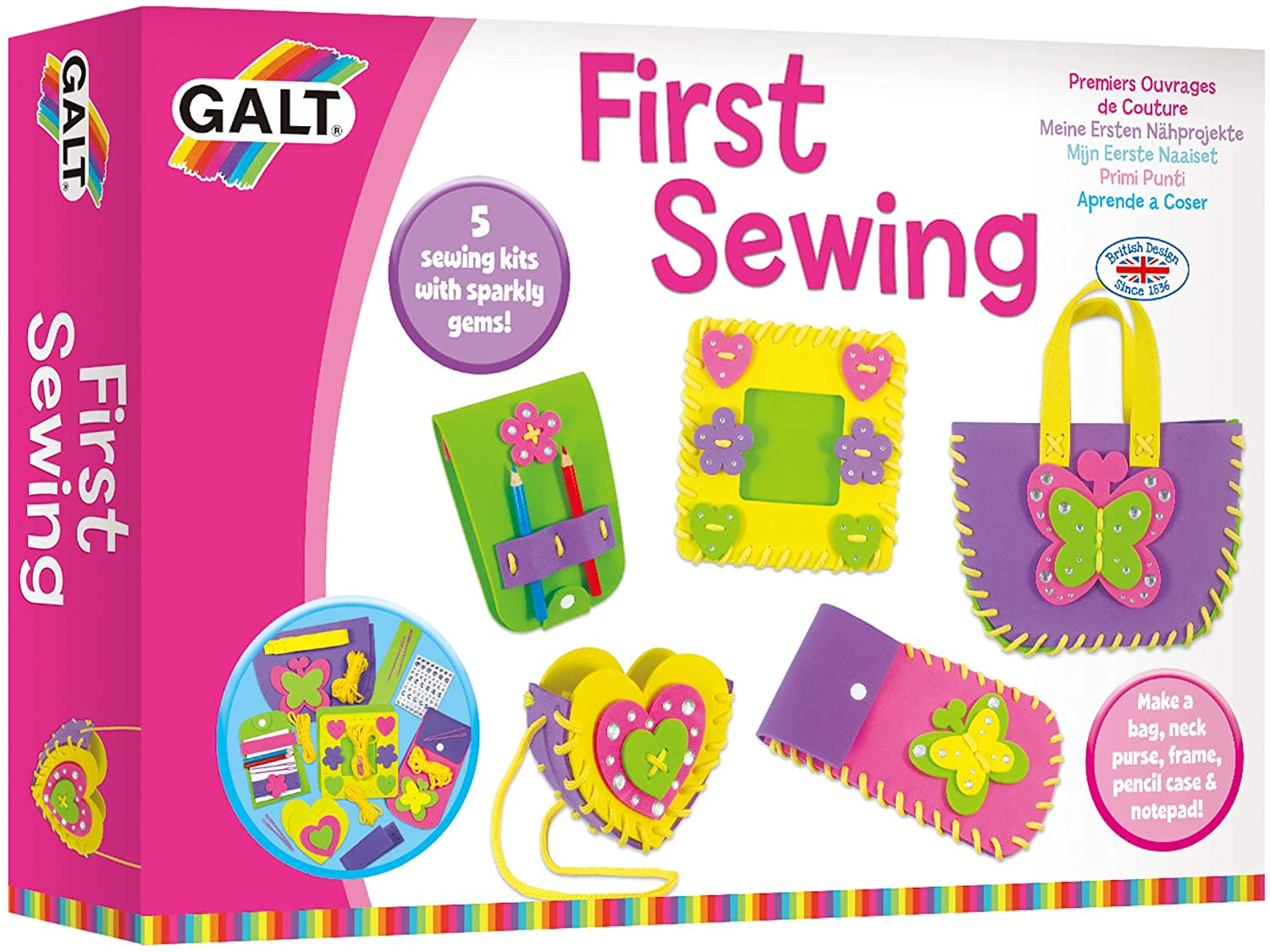 First Sewing, Craft Kits, Galt Toys