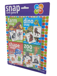 Peterkin 25110 Play and Learn Snap Card Game, 4 Packs