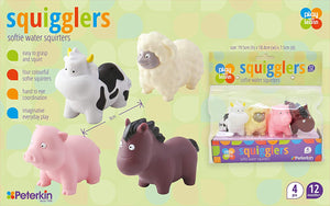 Squigglers Softie Water Bath Squirters, Farm & Transport