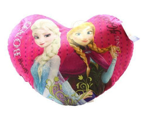 "42cm Disney Frozen Love Heart Cushion ""Strong Bond"" - Anna & Elsa - Disney Princess Official Product"