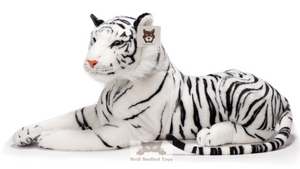 Deluxe Paws Realistic Lifelike Stuffed Plush White Tiger Soft Toy 100cm 40""