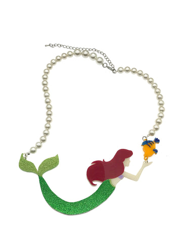 Ariel & Flounder Statement Necklace