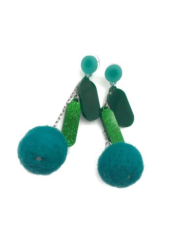 Turquoise Ping Pom Pom