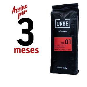 3 Meses de Assinatura do Café Especial URBE 01 - 500g