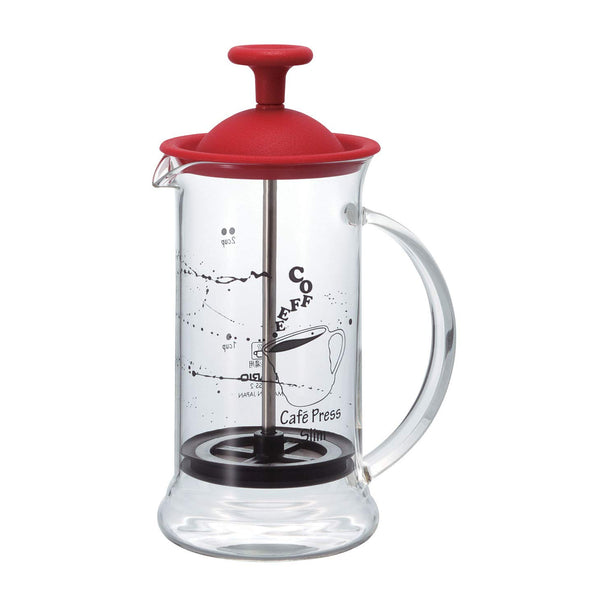 Prensa Francesa Vermelha Hario Café Press Slim S - 240ml