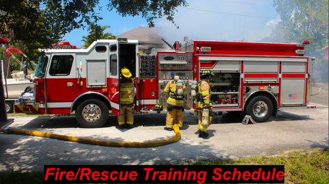 Fire/Rescue Training Schedule
