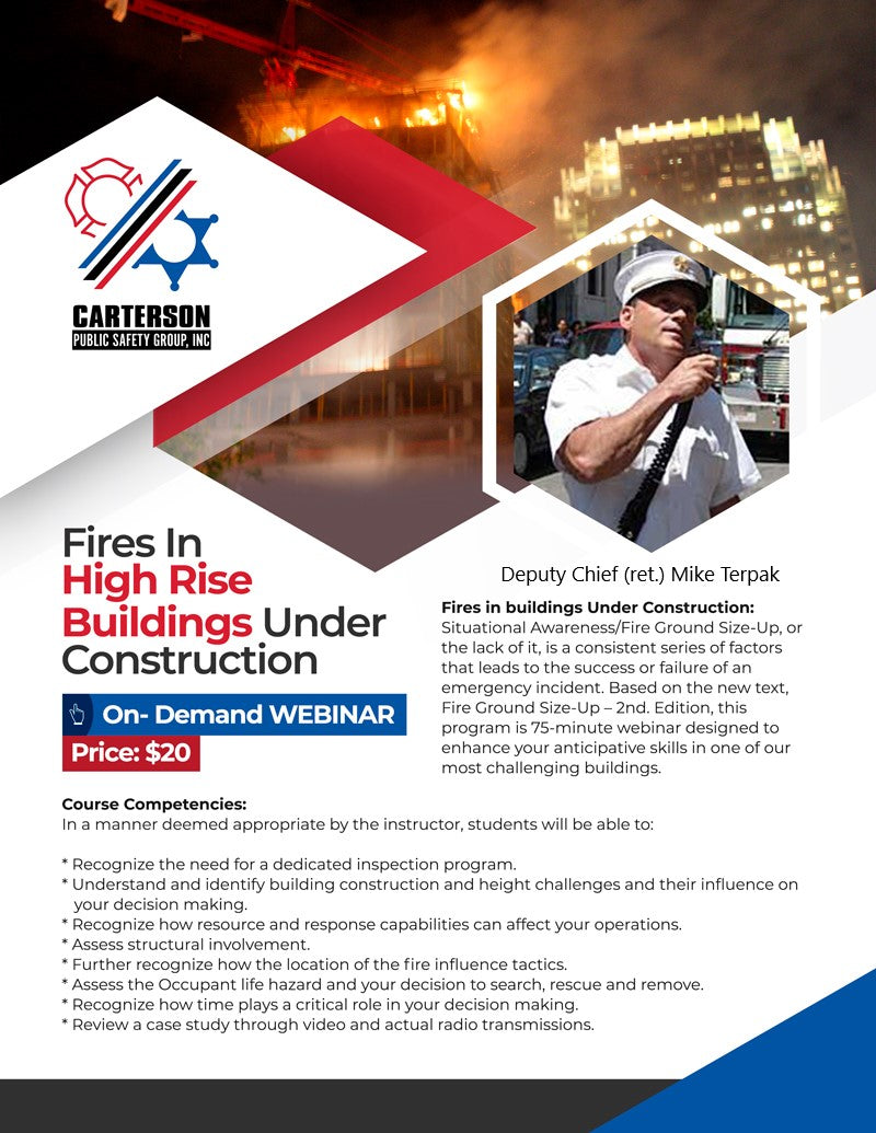 Fires in High Rise Buildings Under Construction By Mike Terpak - On Demand