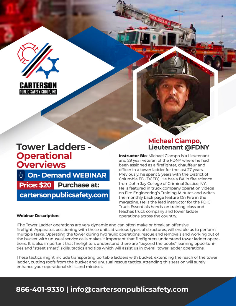Tower Ladder Operational Overviews