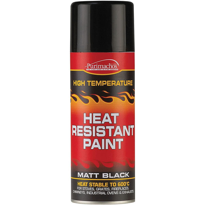 Everbuild EVBPCHP4 Matt Black Heat Resistant Aerosol 400 ml