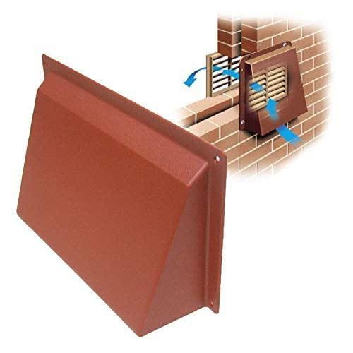 9 x 6 Terracotta Hooded Cowl Vent Cover for Air Bricks
