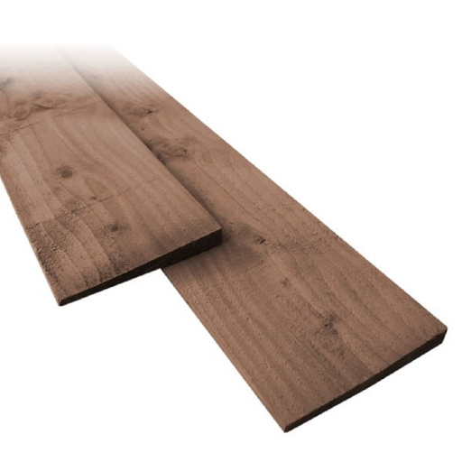Brown Treated Featheredge Fencing Board