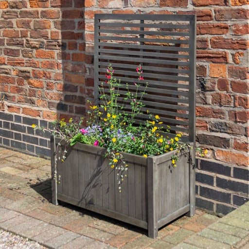Alderley Planter and Trellis Grey