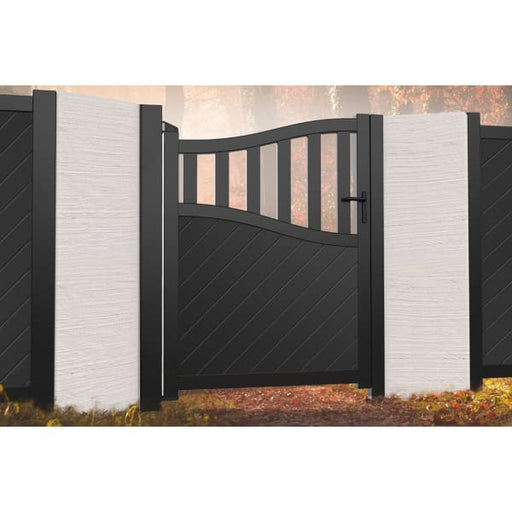 Bell Curved Top Metal Side Gate with Medium Infill