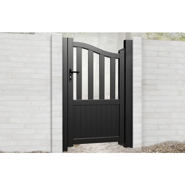 Bell Curved Top Metal Side Gate with Short Infill