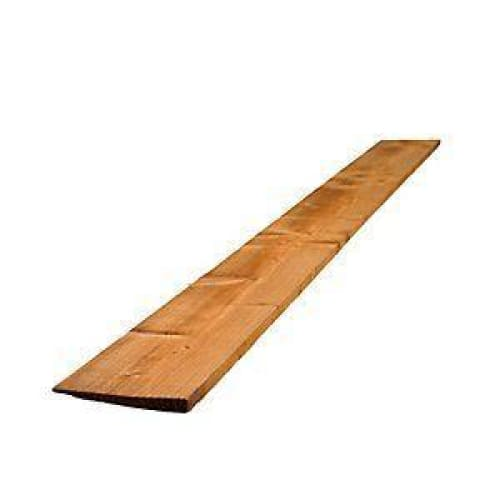 Brown Treated Featheredge Timber Fence Boards 22mm x 125mm x 1650mm Pack of 10-Ashby Harrington-Armstrong Supplies